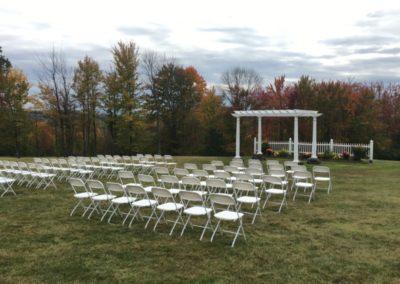 2e View Wedding Outdoor Fall Ceremony