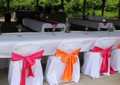 View Head Table with Sashes